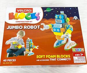 Velcro Foam Blocks JUMBO Robot 40 pc Construction Building Set Preschool STEM