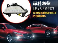 2x DRL LED Daytime Running Lights yellow turn lights for 2013 2014 Mazda 3 Axela