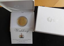 2011 SILVER PROOF GOLD PLATED UK £5 COIN BOX + COA PRINCE WILLIAM & KATE