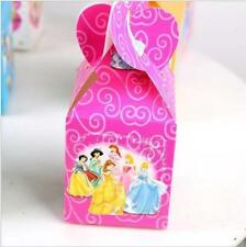 12pcs Candy Box Kids Birthday Party Supplies Favors Gifts Bag Cartoon Princesses