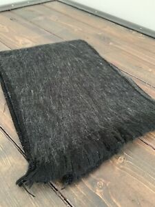 Alpaca Wool Scarf Solid Gray Soft Warm Light Fringed Edges Nwot Unisex