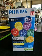Philips 60ct Multi LED Faceted Sphere String Christmas Lights - C5