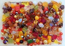 1/4 LB Pound Lot Czech Glass Autumn Fall Harvest Sunset Bohemian Bulk Mix Beads