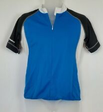 Giant Cycling Jersey Blue, Black and White 3/4 Zipper - Size Med Short Sleeves