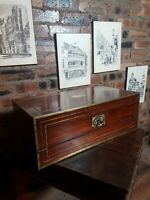 Top Quality Antique Georgian Military Rosewood Writing Slope Box Tompson Patent