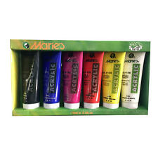 Marie's Acrylic Color Set, 75ml Tubes, 6 Assorted Colors/Box