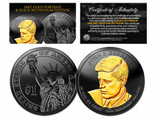 Black RUTHENIUM John Kennedy 2015 Presidential $1 Dollar Coin 24K Enigma P Mint