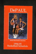 DePaul Blue Demons--1994-95 Basketball Pocket Schedule--Coke