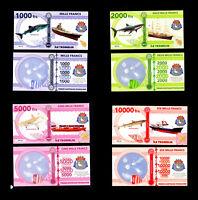 ★★ ILE TROMELIN ● TAAF ● COLLECTION DE 4 BILLETS : 1000 A 10000 FRANCS ★