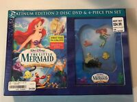 The Little Mermaid 2-Disc Special Edition DVD & 4-Piece Pin Set Brand New 2006