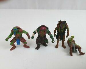 """2014 Teenage Mutant Ninja Turtles 2 1/2"""" - 3"""" Mini Figures Set Of 4"""