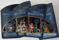 Disney Pin Set Annual Passholder 2007 Donald Mickey Minnie Pluto - New on Cards