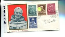 Vatican City 1960 First Day Stamp Cover Scott 269 -272 Signed 7863H