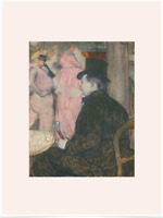 HENRI TOULOUSE-LAUTREC MAXIME LIMITED EDITION PINK BIG BORDERS ART PRINT 18x24