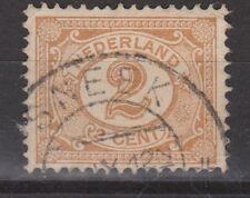 NVPH Netherlands Nederland 54 TOP CANCEL SNEEK Cijfer 1899-1913 Pays Bas