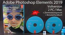 Adobe Photoshop Elements 2019 Vollversion Box + DVD Win/Mac & Anleitung OVP NEU