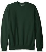 Hanes Men's Ecosmart Fleece Sweatshirt Deep Forest Size Medium