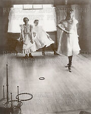 Victorian teen girls play Ring Toss game kids toy 1899 photo 5x7 or request 8x10
