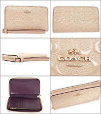 $180 COACH F57469 SIG DEBOSSED PATENT CARD PHONE CASE WRISTLET WALLET BAG CLUTCH