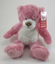 "zzb Strawberry pink PLUSH TEDDY BEAR Cookie Ganz 10"" nwt"