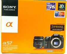 Sony Alpha SLT-A57 16.1MP Digital SLR Camera - Black (Kit w/ DT SAM 18-55mm Lens