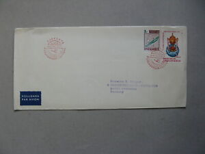 INDONESIA, cover FFC 1967, Djakarta - Frankfurt, aviation