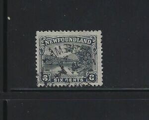 NEWFOUNDLAND - #136 - 6c UPPER STEADIES HUMBER RIVER USED STAMP