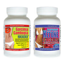 PURE Garcinia Cambogia HCA EXTRACT Weight Loss + Raspberry Ketone Lean Best Pwdr