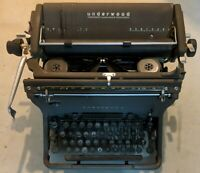 Antique 1940's Underwood Standard Desk Typewriter & Cover Needs Love 11-7067376