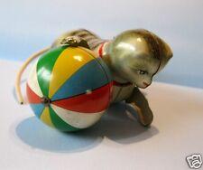 Altes Blechspielzeug Köhler Wendekatze Katze mit großem Ball US-Zone Germany