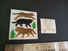 Vintage Stickers Lot 80s Sandylion Fuzzy Cats Jaguar Cheetah Sticker Mods VTG