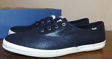 KEDS SIZE 8.5  COMFY CH OX PEACOCK SHINY NAVY  BLUE KEDS NEW WOMENS