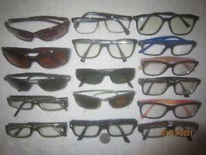Mix Lot of 16 bolle-D&G-Ray-Ban Eyeglasses Vintage MEN WOMEN Big WIDE Retro SEXY