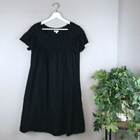 Walter Baker Women's Black Swiss Dot Babydoll Dress Size Medium EUC