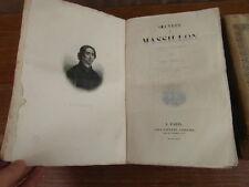 OEUVRES DE MASSILLON 2 volumes LEFEVRE 1835