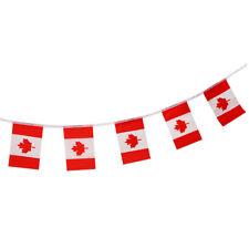 Canada String Flag Banner 14x21cm 5.5Meters String Flag Sport Bar Decoration