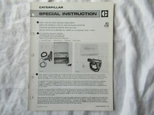 Caterpillar 1P3500 engine fuel injection timing group service instruction manual