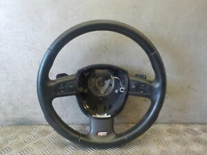AUDI A3 8P S LINE 2005-2008 PADDLE SHIFT STEERING WHEEL MULTIFUNCTIONS 8P0419091