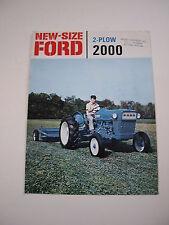 Ford 2000 Tractor 2-Plow Color Brochure, 8 pg. original vintage '64 Introduction