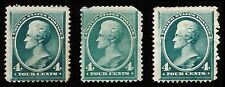 US Sc# 211 x 3 *UNUSED* { 3c JACKSON } SPACE FILLERS WITH FAULTS OF 1883 SERIES