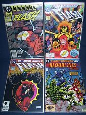 Flash 2nd Series Annual #2, #4, #5 and #6 Dc Comics with Bag and Board
