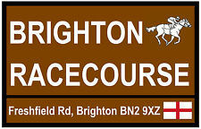 HORSE RACING - ROAD SIGNS (BRIGHTON) - SOUVENIR NOVELTY FRIDGE MAGNET - NEW