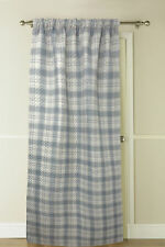 "Country Club Thermal Door Curtain Tartan 117 x 213cm Grey Natural 46 x 84"" New"