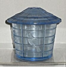 Vintage Imperial Glass Ice Blue Birdcage Lidded Ice Bucket