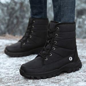 Women's Snow Boots Winter Waterproof Platform Fur Lined Frosty Warm Anti-Slip