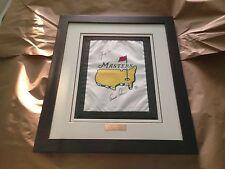 Arnold Palmer/Jack Nicklaus Signed, Professionally Framed Masters Flag, JSA/LOA!