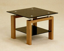 Glass Square Contemporary Side & End Tables with Flat Pack