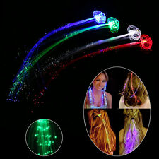 10Pcs LED Hair Flashing Multicolour Clip on Braid Decor Light Up Glow Party Club