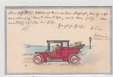 Auto Prägekarte 1908
