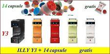 Macchina da caffè iperespresso illy Y3 nuova originale + 14 capsule in omaggio